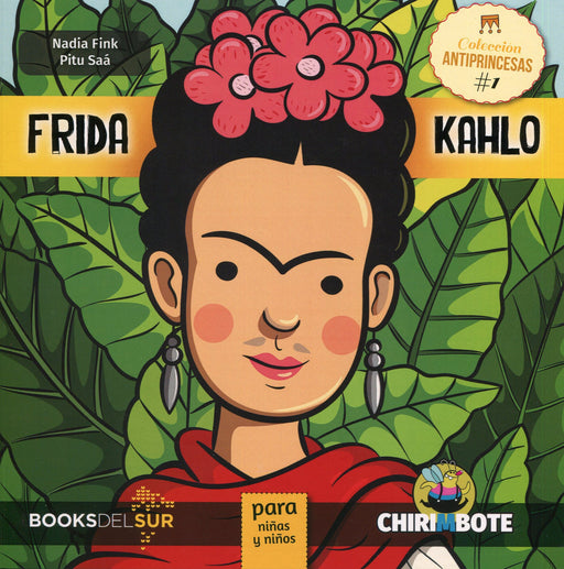 book cover shows Frida Kahlo