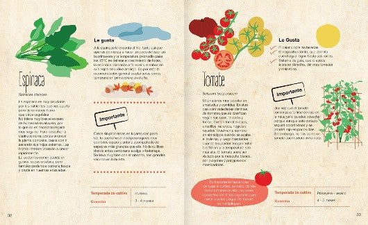 inside pages illustrate grown foods