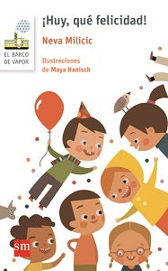book cover illustrates 6 children having a party