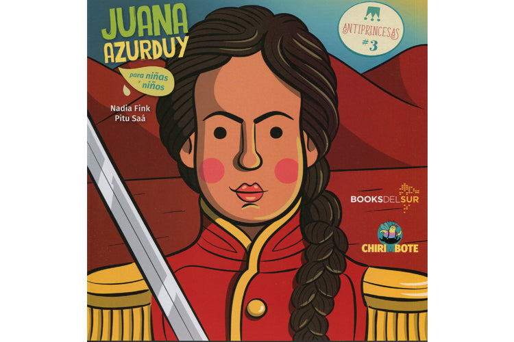 book cover depicting an illustration of Juana Azurduy