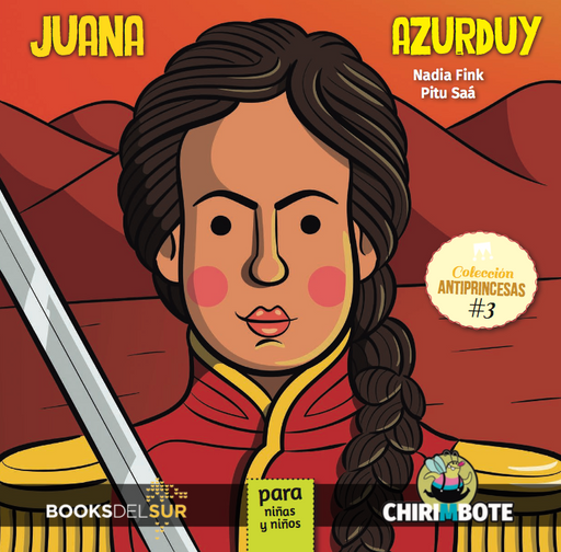 book cover shows Juana Azurduy