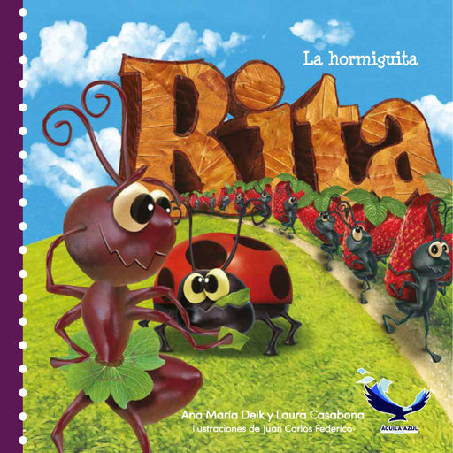 book cover illustrates ants carrying strawberries