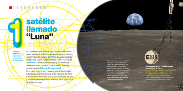 inside pages show earth from the moon