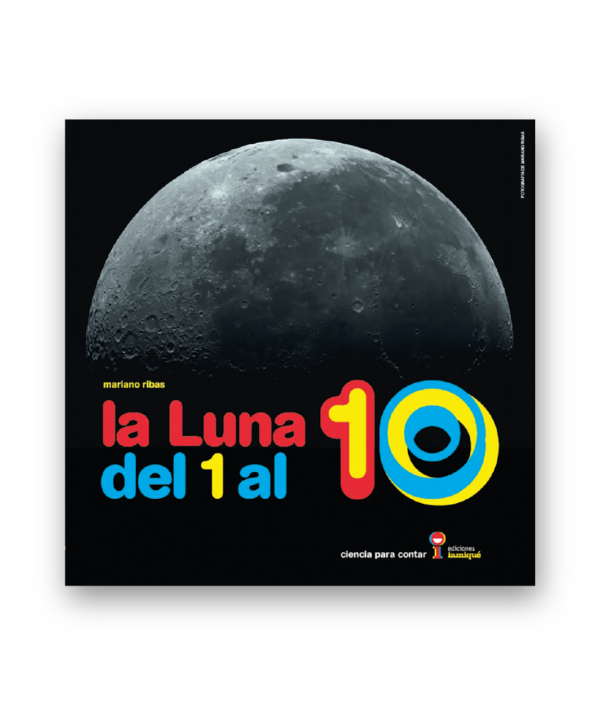 book cover shows the moon