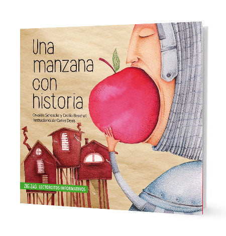 book cover illustrates a person eating a big apple