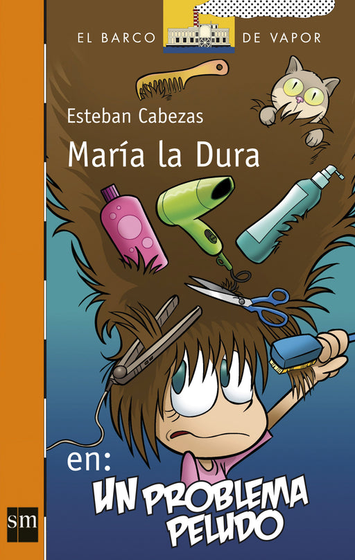 book cover illustrates Maria with objects in her hair