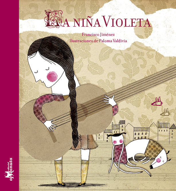 book cover illustrates girl holding a guitar