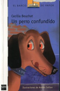 book cover illustrates a dog licking its lips