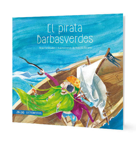 book cover shows a pirate in his ship