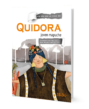 book cover illustrates mapuche with trees in the background