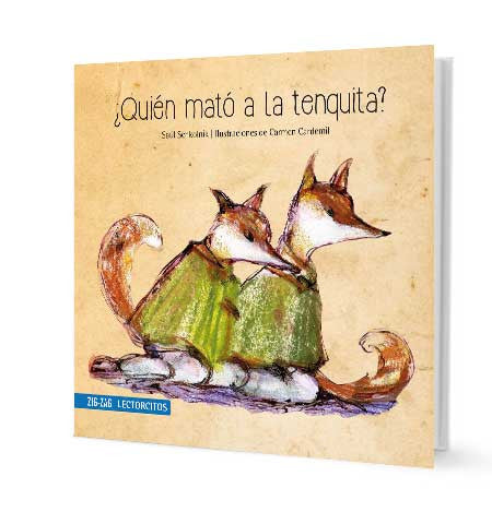 book cover illustrates two foxes