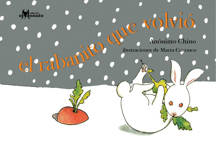 book cover shows a rabbit in the snow with a carrot