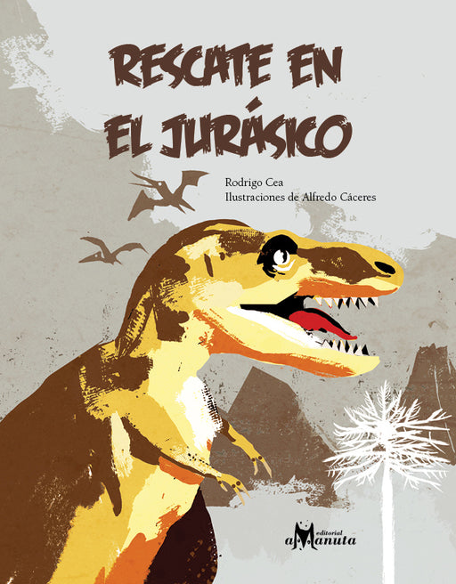 book cover illustrates three dinosaurs