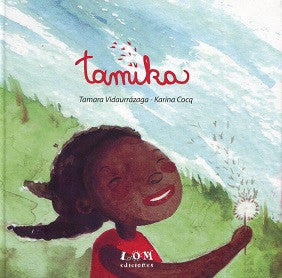book cover illustrates Tamika in a field with a dandelion
