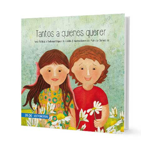 book cover illustrates a boy and a girl with flowers
