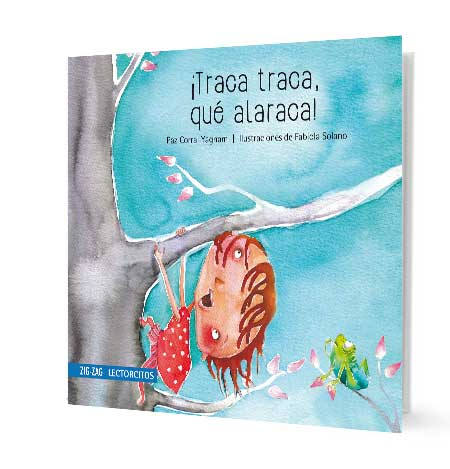 book cover illustration of a little girl climbing on a tree
