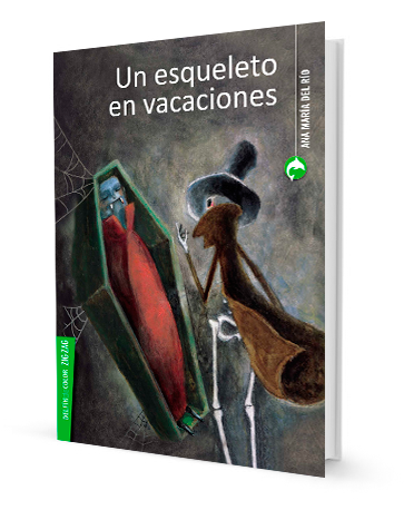 book cover illustrates a skeleton and a vampire in a coffin
