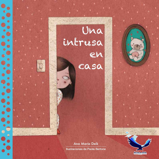 book cover illustrates a woman peeking around a doorway into a room