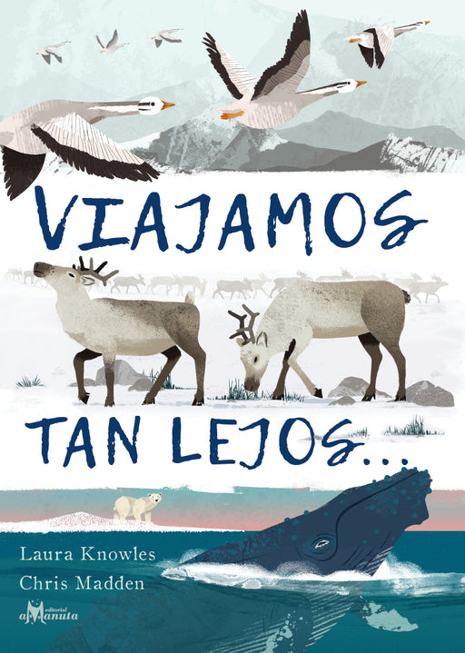 book cover illustrates different animals including birds, reindeer, and whales