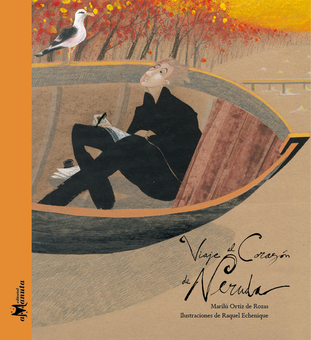 book cover illustrates a man in a boat with a seagull