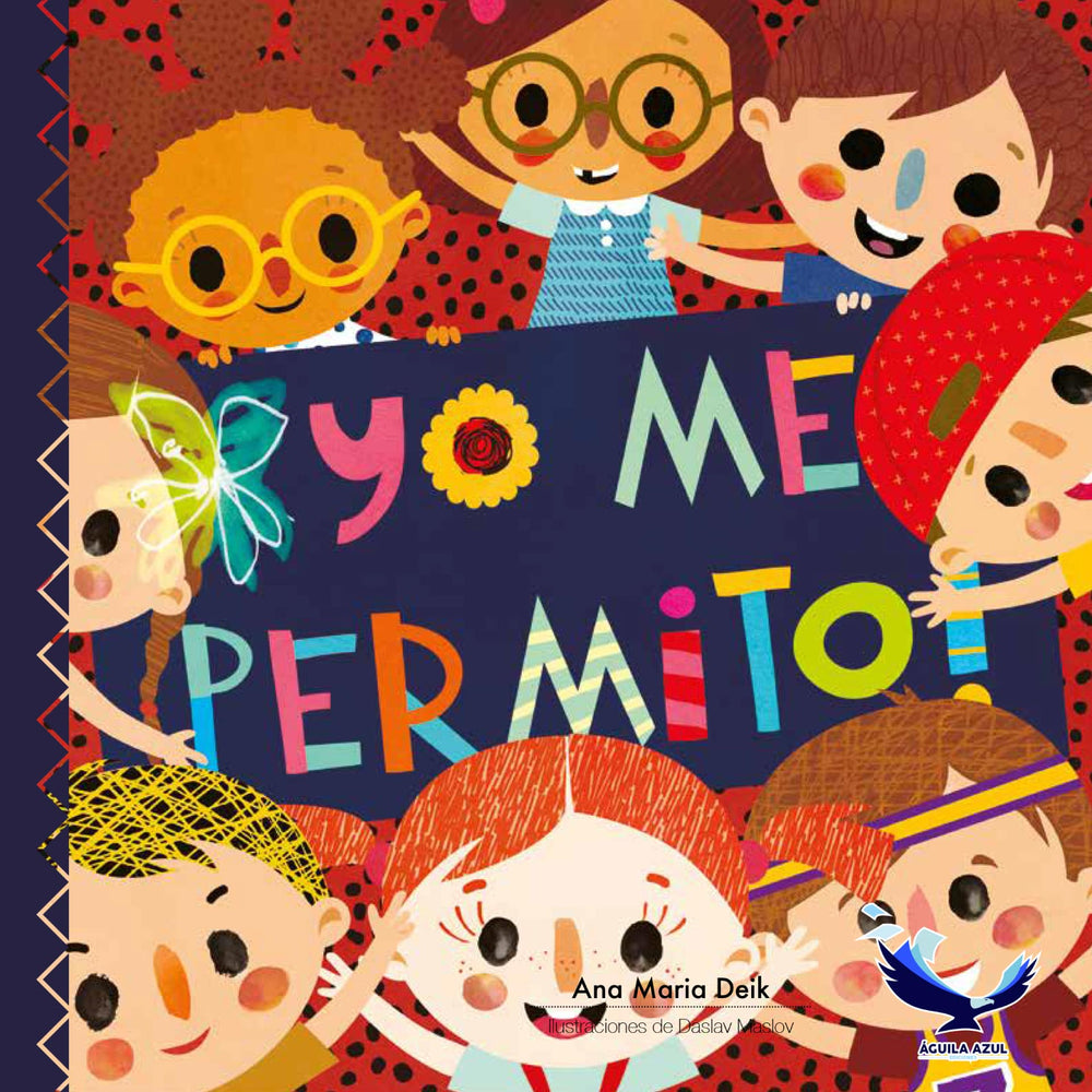 book cover with illustration of 8 kids smiling together