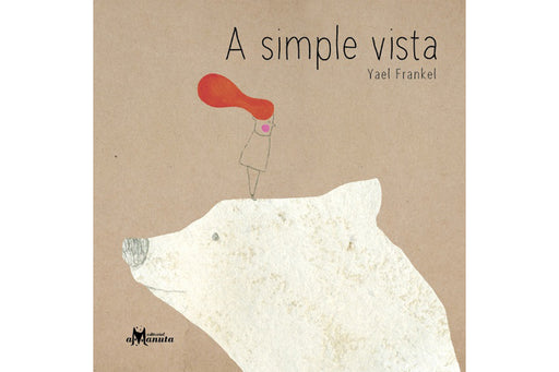 A simple vista book cover depicting an illustration of a little boy on top of a polar bear's huge head