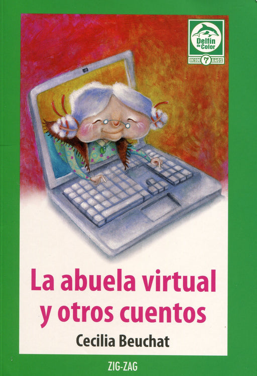 book cover illustrates grandma using a computer