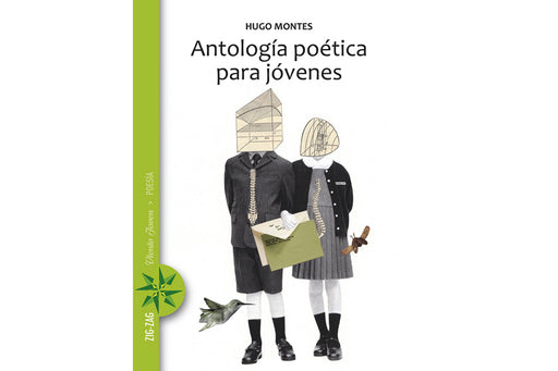 book cover depicting an illustration of two school kids with geometric illustrations replacing their heads