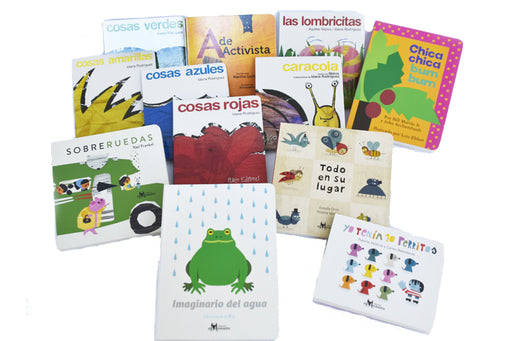 image depicts a set of several board books for pre-schoolers