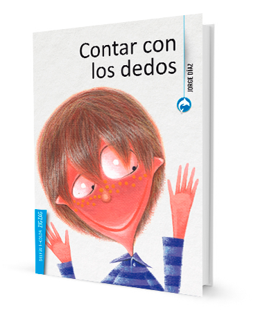 book cover depicts an illustration of a kid looking at his left hand