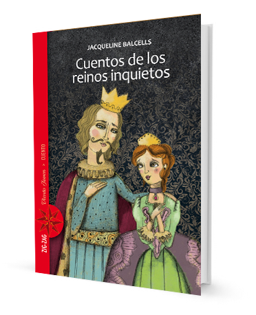 book cover with illustration of a Queen and a King from medieval times