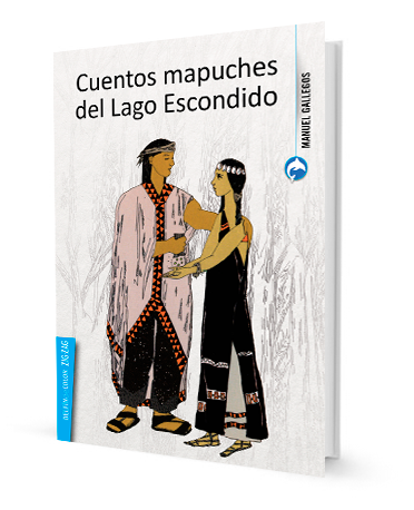 book cover depicting a young couple of mapuche people