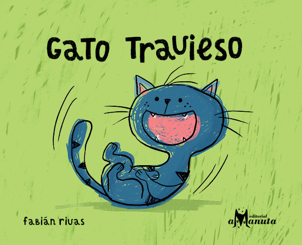 book cover shows a blue cat