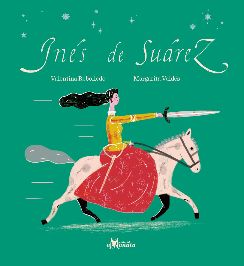 book cover illustrates a person with a sword on a horse