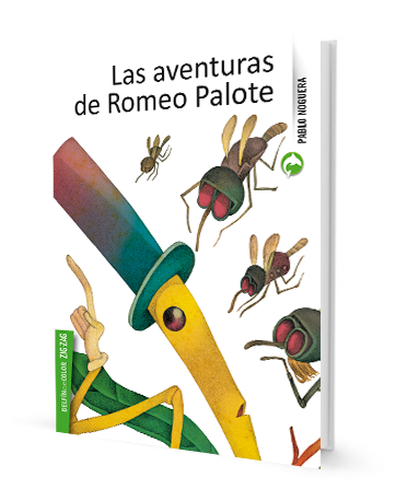 book cover illustrates insects