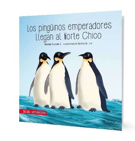 Image depicting three emperor penguins