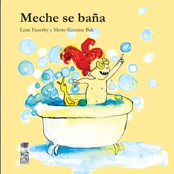 book cover illustrates Meche in the bath