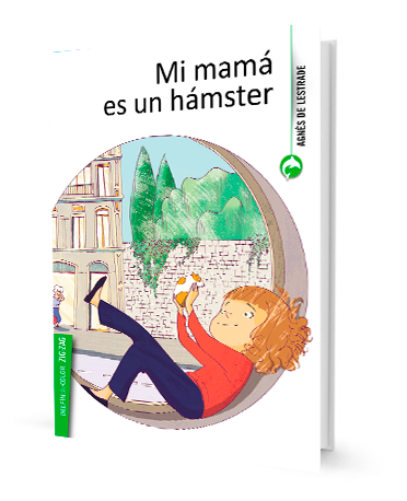 book cover illustrates a girl and a hamster