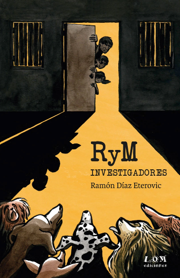 book cover illustrates a group of people opening a door with animals inside