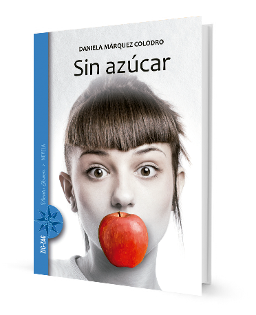 book cover illustrates a woman with an apple in her mouth