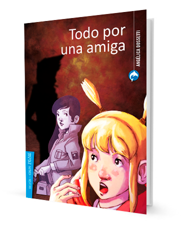book cover illustrates a blonde hair girl and another girl in a jacket