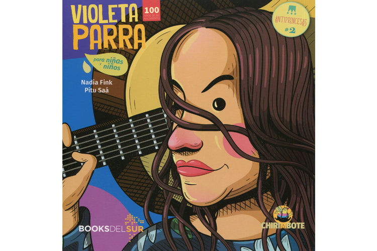 Book cover depicting an illustration of Violeta Parra
