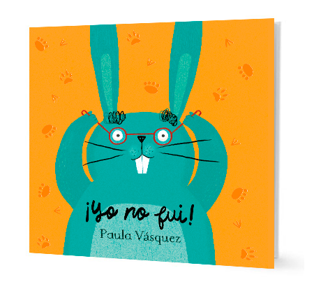 book cover with illustration of a green rabbit wearing glasses