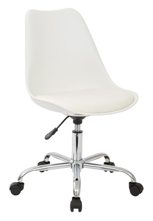 Ave Six EMS26-11-osp Emerson Student Office Chair, White