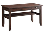 Office Star Hainsworth Writing Desk with Java Finish Veneer Top and Wood Frame