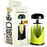 Blossom Chocolate Cheese Grater Nut Grinder, Kiwi, BPA-Free Nylon and Stainless Steel