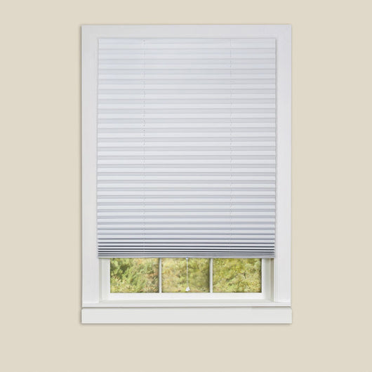 1-2-3 Vinyl Room Darkening Window Pleated Shade - White - 48x75 6 Pack