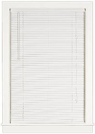 Achim Home Furnishings Deluxe Sundown 1-Inch Blind, 32-Inch by 64-Inch, White
