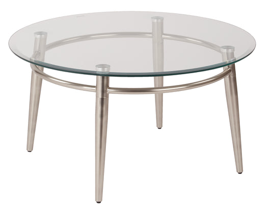 Work Smart/Ave Six MG1230R-NB-osp Brooklyn Round Top Coffee Table, Nickel Brush Finish