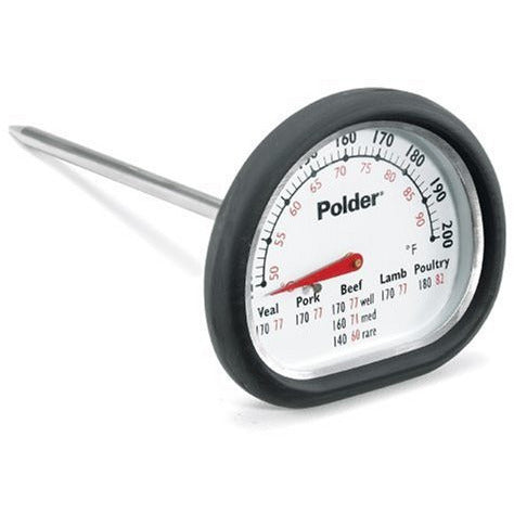 Polder 12454 Meat Thermometer, Stainless Steel